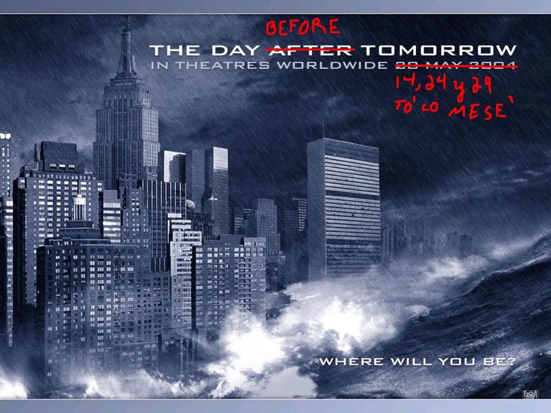 El día antes del cobro, el día antes de mañana…