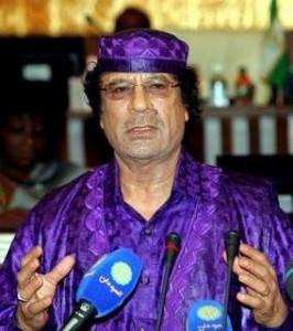 Gaddafi el chulo