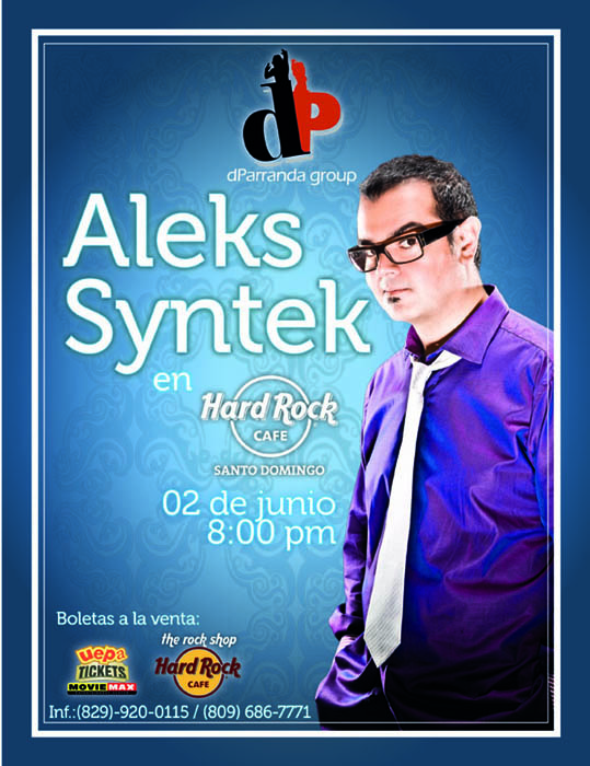 Esta Noche: Aleks Syntek @ Hard Rock Cafe (Santo Domingo)