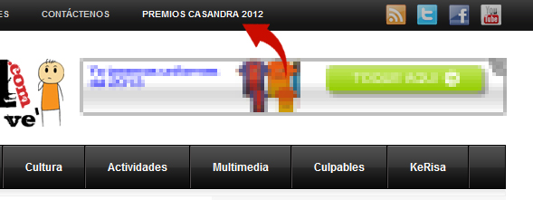 Tijereo para los Premios Casandra 2012