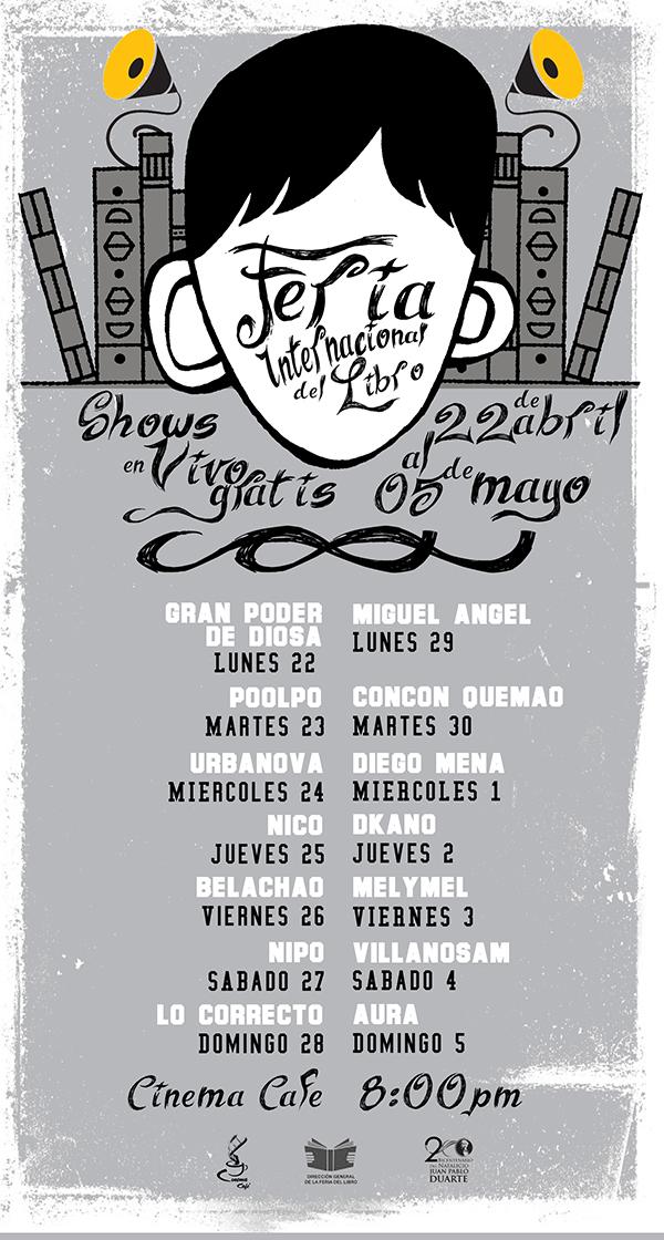 Calendario de conciertos gratis en la Feria Internacional del Libro 2013 (Cinema Café)