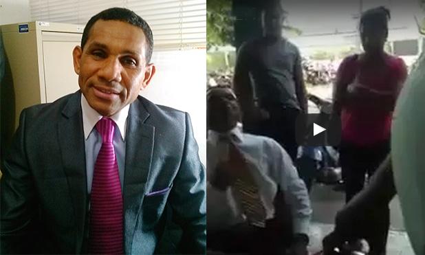 Presidente del PLD en Puerto Plata se come a AMET con yuca