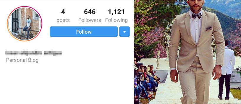 Perfíl de modelos en Instagram.