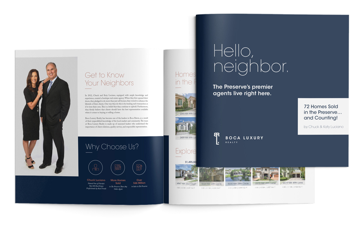 First Thing First: Boca Luxury Realty Needed A Solid Brand From Which Its  Marketing Efforts Could Grow. After Being Presented With A Trio Of Logo  Suites, ...