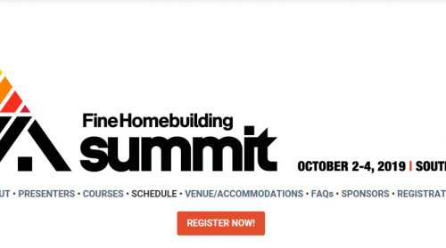 Fine Homebuilding Launches The Building Summit