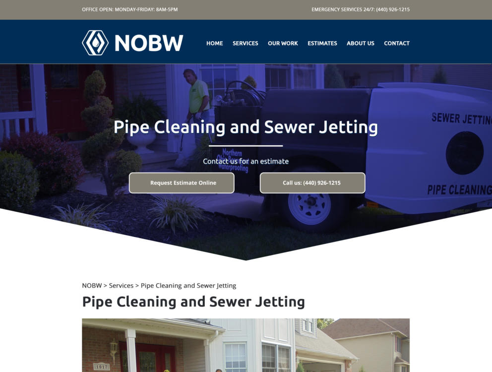 Initial Visual Design for Northern Ohio Basement Waterproofing Banner Image