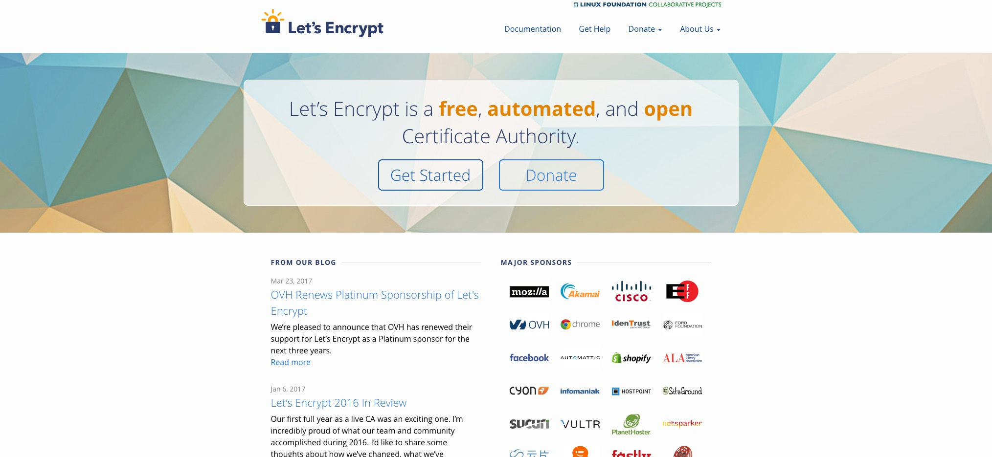 Blend Guide on Let's Encrypt