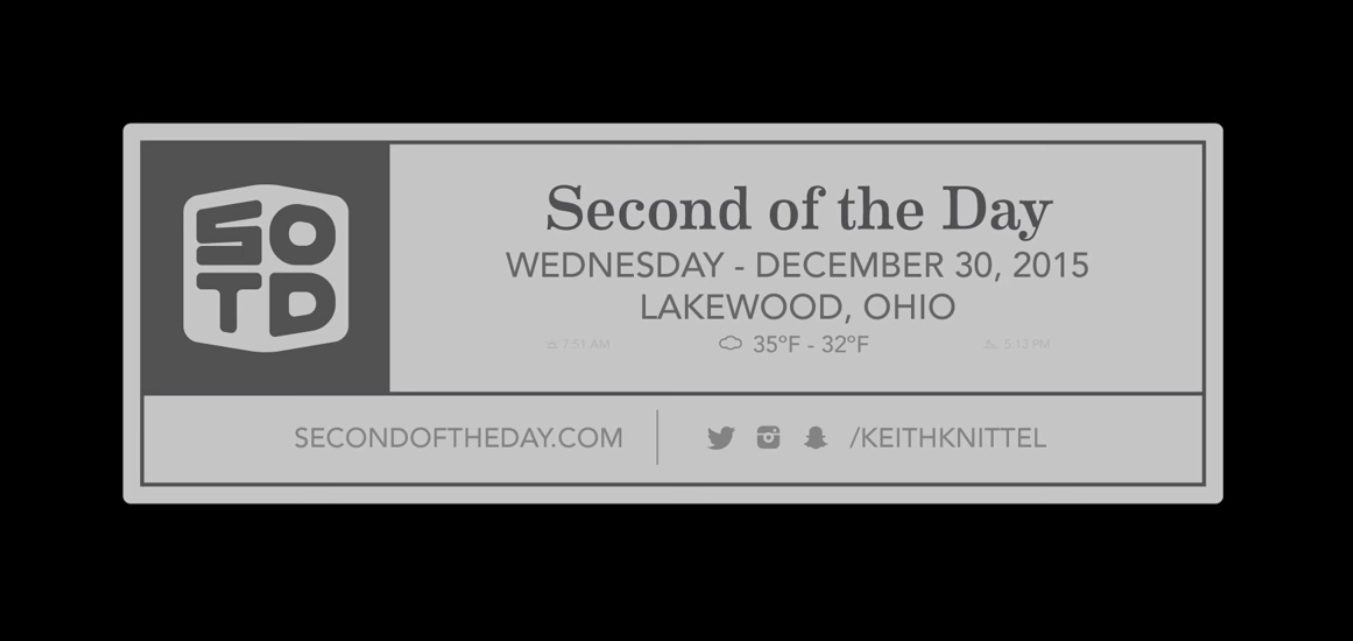Second of the Day | December 2015