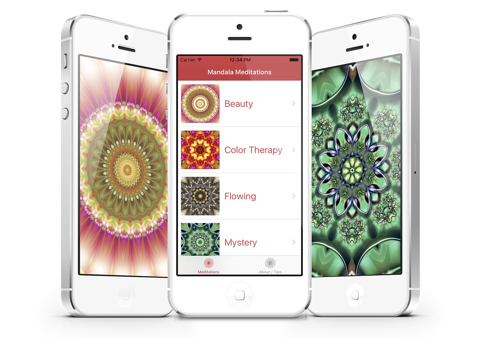 Mandala Meditations Relaxation App for iOS