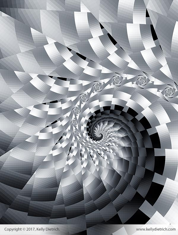 Bladed Spiral in Black and White