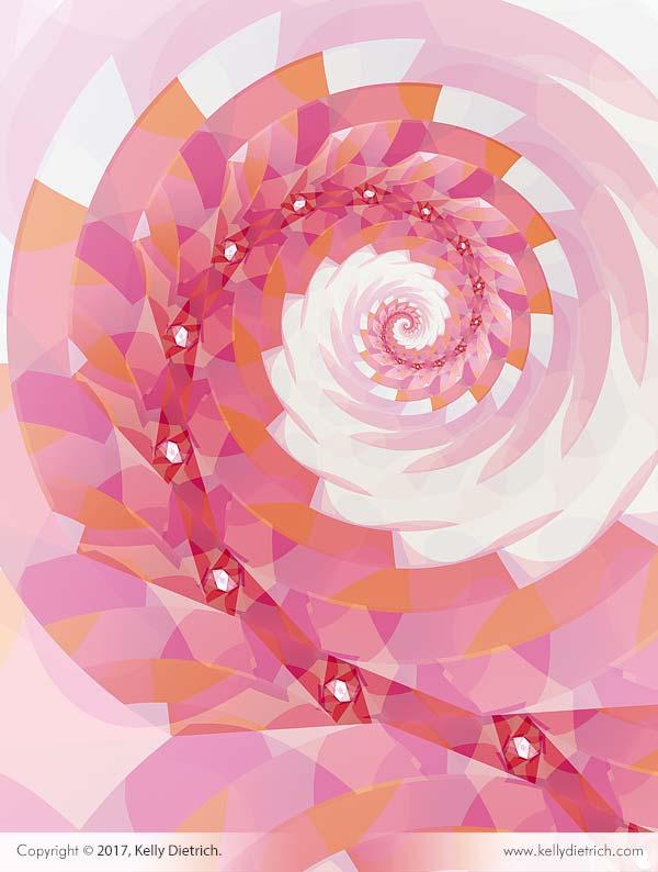 Strawberry Spiral Fractal