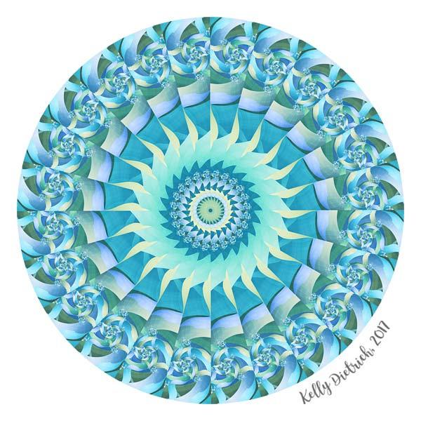 Bladed Aqua Mandala