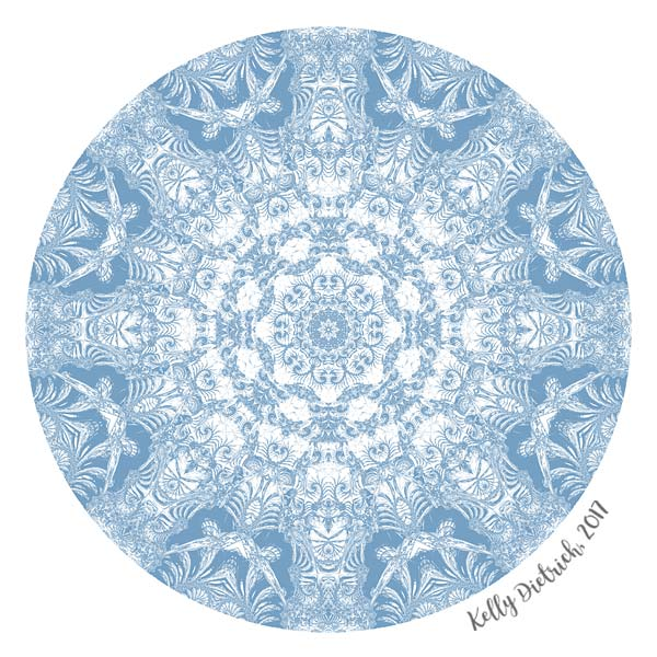 Blue and White Mandala