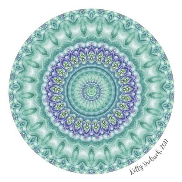 Bright Green and Purple Mandala
