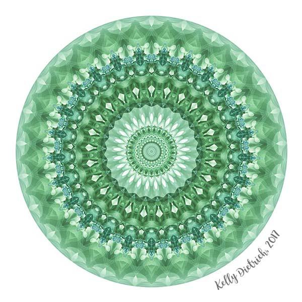 Emerald Green Mandala