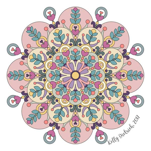 Happiness is Now Mandala