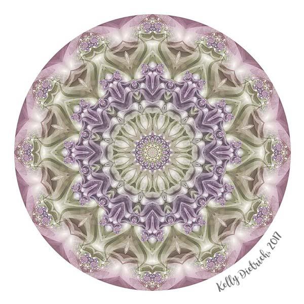 Lilac and Green Mandala