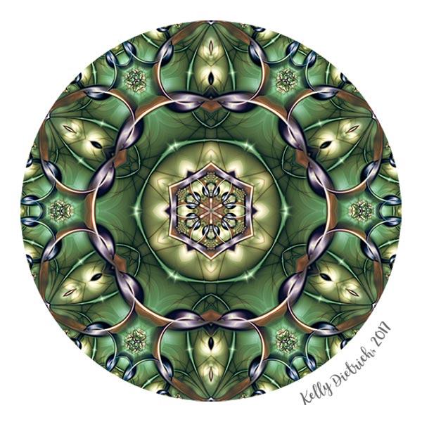 Mystery Mandala in Green
