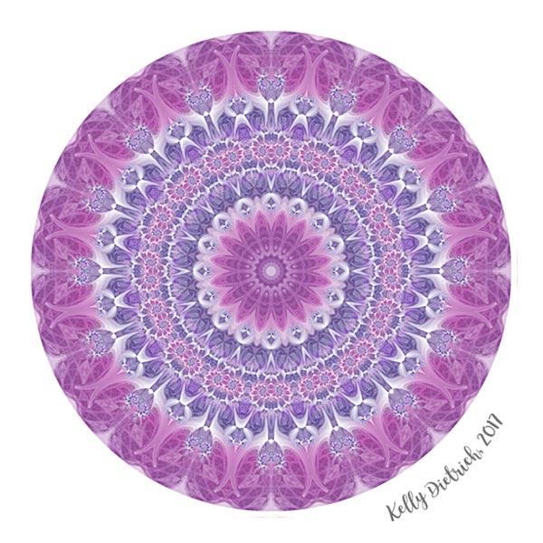 Purple and Pink Mandala
