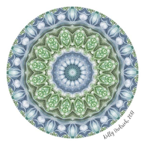 Slate Blue Mandala