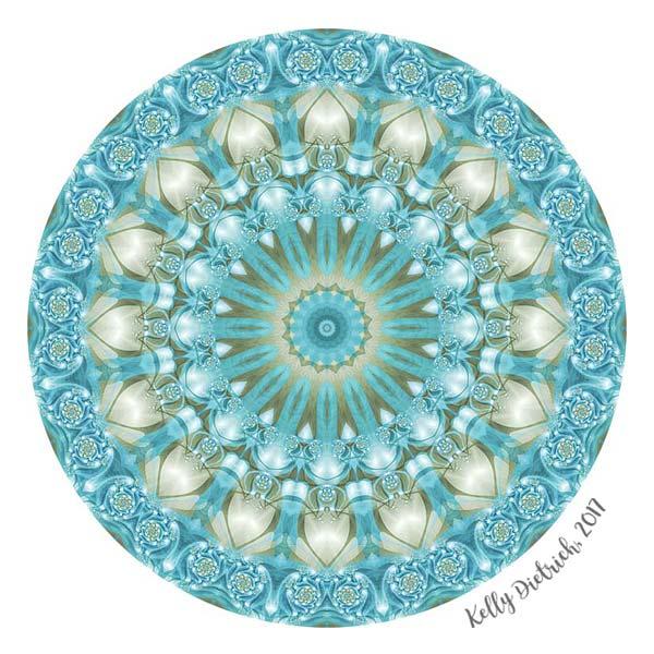 Turquoise and Gold Mandala
