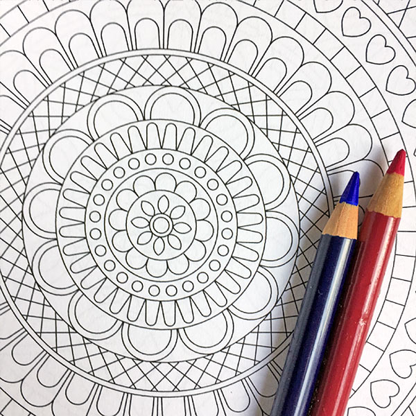 Coloring Mandalas Coloring Book Page