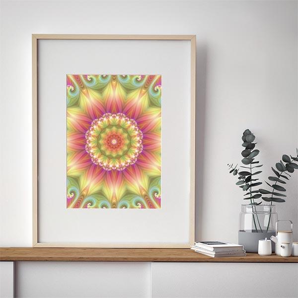 Beauty Mandala 03 Framed Print
