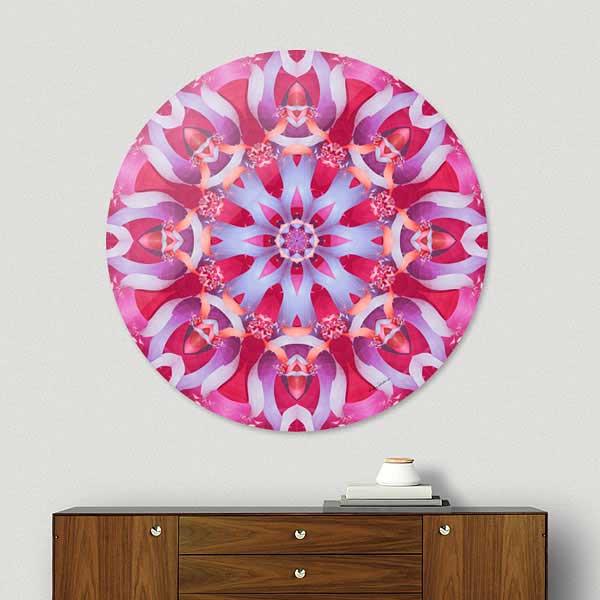 Purple Ombre Mandala Disk Print