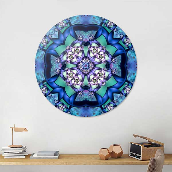 Blue Filigree Flower Mandala