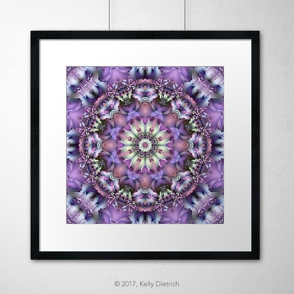 Lilac Mandala Framed Print
