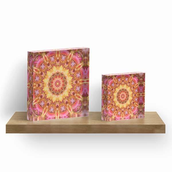 Be Free Mandala Acrylic Blocks