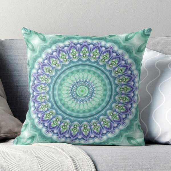Bright Green and Purple Pillow