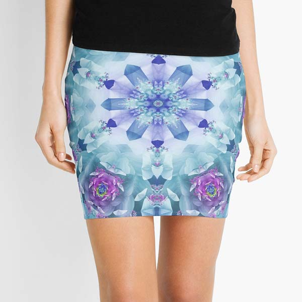 Blue Mandala Printed Skirt
