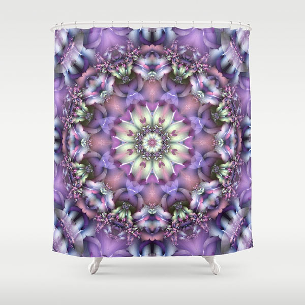 Lilac Mandala Shower Curtain