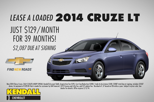Chevy Cruze Lease >> Eugene 2014 Chevy Cruze Lt Lease Special Oregon Car Discounts