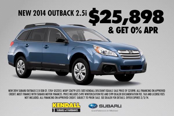 Subaru outback offers
