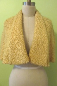 Golden Diva Wool Cape
