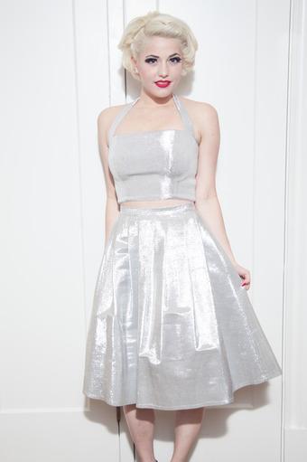 Diamonds Pleated Skirt
