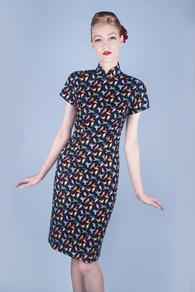 HummingBird Mandarin Dress