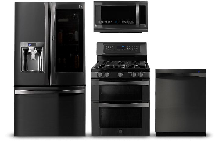 Black Stainless Steel Appliances Kenmore