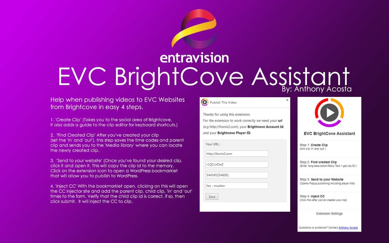 EVC BrightCove Assistant Plugin