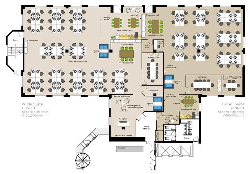 Wilde & Canal Suite Floorplan