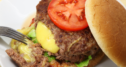 Inside out cheeseburger
