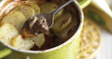 Irish stew hot pot with grass fed kerrygold butter