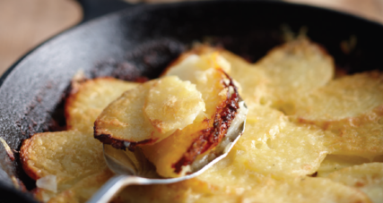 Irish stove top potatoes with kerrygold aged cheddar cheese