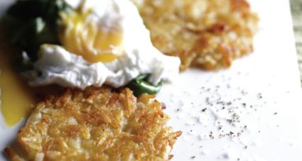 Crispy potato rosti fried in kerrygold grass fed irish butter