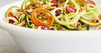 Southwestern zoodle salad with chipotle lime dressing