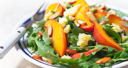 Kerrygold butter braised and aged cheddar nectarine salad
