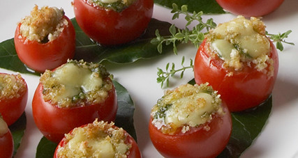 Farm fresh tomatoes with bubbly kerrygold cheddar cheese thumbnail
