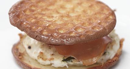 Egg prosciutto  breakfast  sandwiches